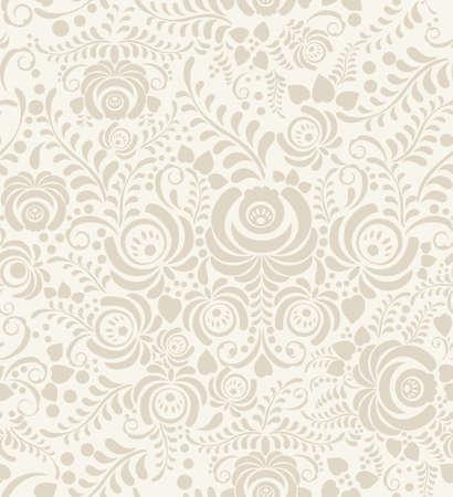 Vector Bloemen uitstekend rustiek naadloos patroon. Achtergrond kan worden gebruikt voor behang, opvullingen, webpagina's, oppervlaktetexturen. Stockfoto - 46043313