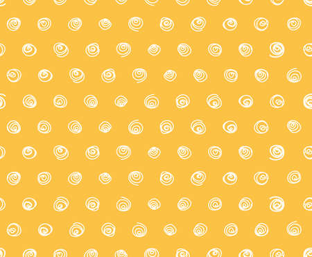 polka dot fabric: Yellow Seamless pattern, hand drawn polka dot fabric, wallpaper,