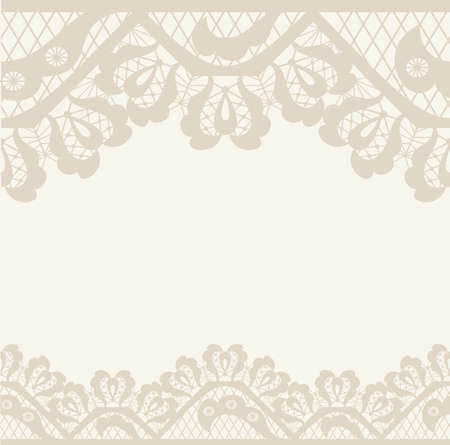 Invitation, anniversary card with label for your personalized text in shades of subtle off-whites and beige with a delicate  floral pattern and frame in the background. EPS8