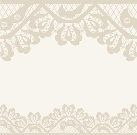 Uitnodiging, verjaardag kaart met label voor uw persoonlijke tekst in de kleuren van subtiele gebroken wit en beige met een delicate bloemmotief en het frame op de achtergrond. EPS8 Stockfoto - 46450939