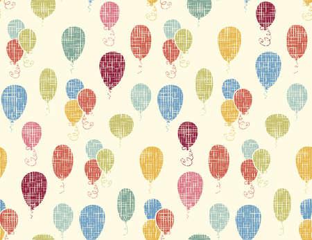 Naadloze vector patroon met kleurrijke ballonnen. Voor kaarten, uitnodigingen, bruiloft of baby shower albums, achtergronden, kunst en plakboeken