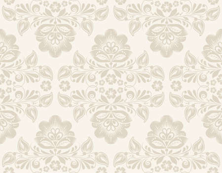 seamless tile: vector elegant Ikat Damask Seamless Background Pattern