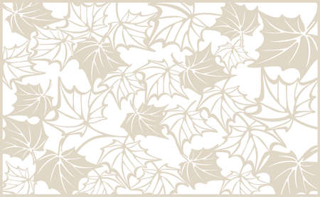 cutting edge: Autumn pattern, with maple leaves. Fall Vector design background for cutting with a laser or plotter. Template for cut