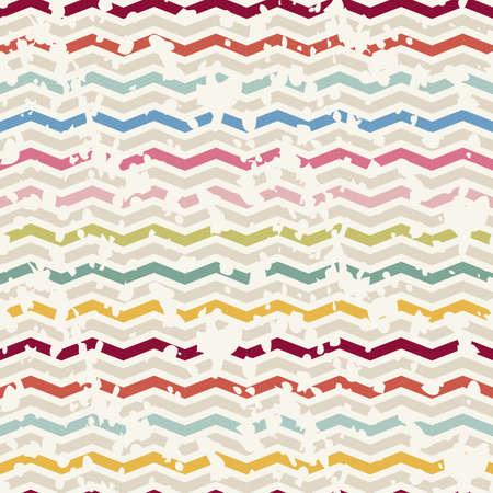 chevron pattern: Vector Seamless Chevron Pattern. colorful Vintage zigzag background
