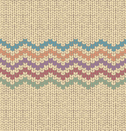 knit: Knitted Seamless Fabric Pattern, Beautiful retro color Knit Texture