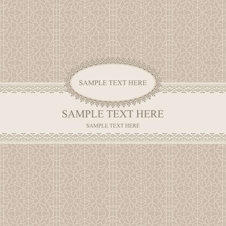 beige stof: Vector Beige vintage greetings. seamless abstract pattern