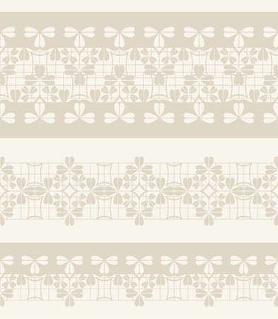 paper punch: Set of cute lace ribbons. vector beige seamless borders
