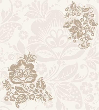 khokhloma: Elegant background with decorative russian khokhloma postcard frame