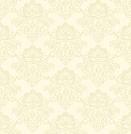 beige background: Vector damask seamless pattern beige background. Elegant luxury texture for wallpapers, backgrounds and page fill Illustration
