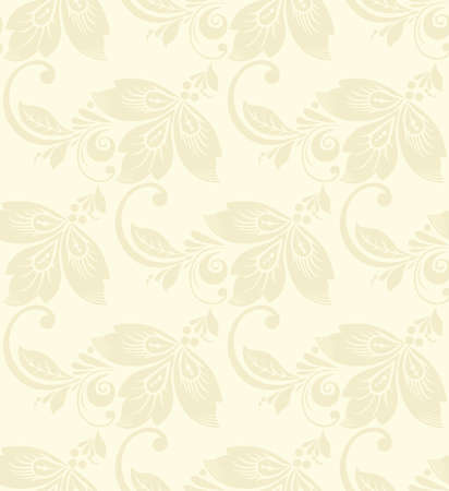 feminine background: Vector Abstract elegance seamless pattern with floral background