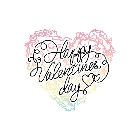 ombre: Vector Ombre print colorful heart. Happy valentines day quote. ombre heart on White background. Illustration