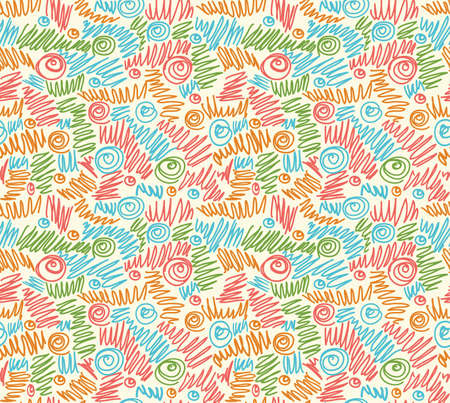 Seamless abstract hand-drawn waves pattern, wavy background. Seamless pattern can be used for wallpaper, pattern fills, web page background,surface textures. Stock Photo