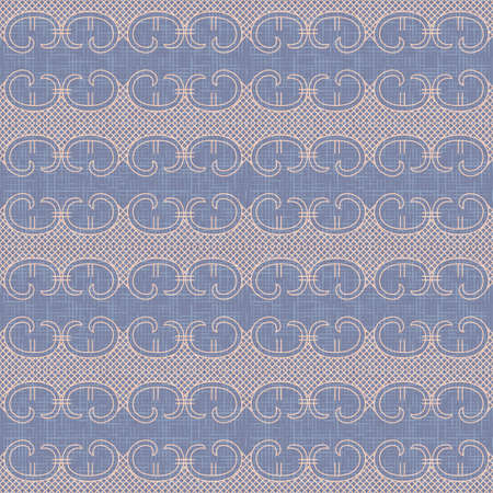 Vintage lace trim seamless pattern vector background. Grunge violet texture