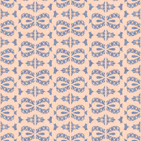 Violet sack seamless pattern background vector, beige abstract bows in vintage style