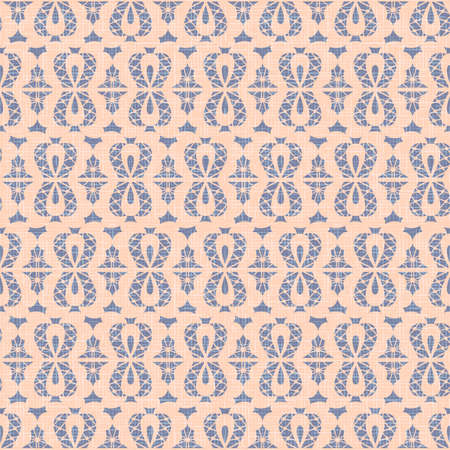 Violet canvas seamless pattern background vector, beige bows in retro style
