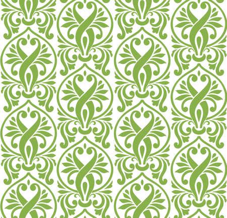 Spring color damascus seamless pattern background, illustration. Wallpaper design, vintage decoration
