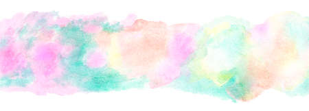 Abstract colorful rainbow watercolor background. Digital art hand painting. Stockfoto