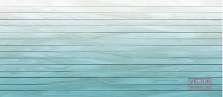Blue wood header on vector vintage background. Old wall wooden vintage floor. Wooden board texture. Horizontal backdrop. Banner design. Nature background. Stock Illustratie
