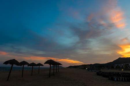 Guangdong Yangjiang Yangxi shapa Bay  sunset