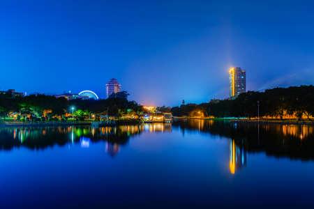 Spring Festival in Guangdong Maoming Lake Park at night