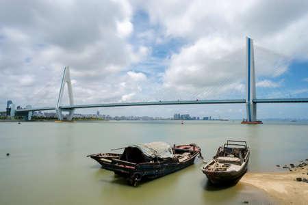 Haikou Century Bridge Stock Photo