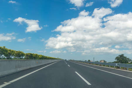 Highway scenery at China. Stock Photo