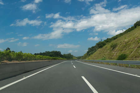 No-vehicle roads on sunny days Stock Photo