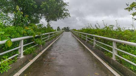 Bridge in rainy weather