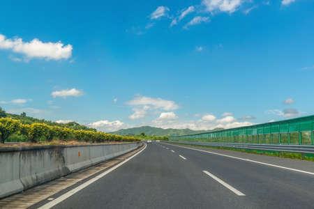 Highway pavement at China.
