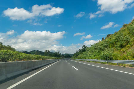 Highway under clear sky