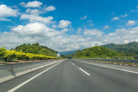 One-sided two-lane highway Stock Photo