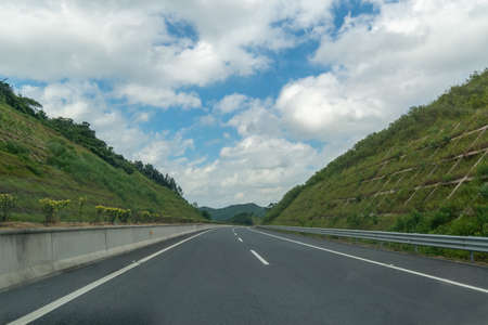 Through the mountain highway