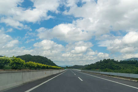 Highway in fine weather