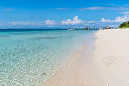 Semporna scenery in Tawau, Malaysia 免版税图像