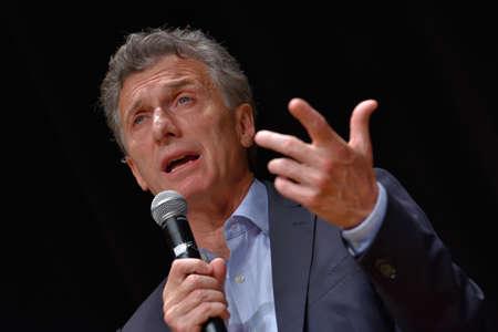 ブエノスアイレス, アルゼンチン - 2015 年 11 月 10 日: マウリシオマ クリー、Cambiemos、チーフの政府自治都市ブエノスアイレスのための大統領候補は 報道画像