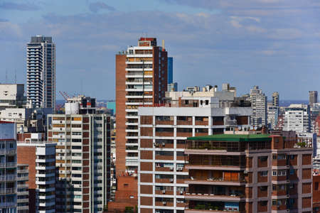 aires: Aerial view of Buenos Aires, Argentina. Stock Photo