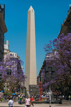 obelisco: The Obelisk El Obelisco, the most recognized landmark in the capital on Dec 02, 2015 in Buenos Aires, Argentina.