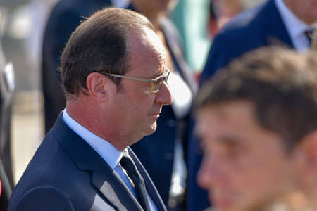 dictatorship: Buenos Aires, Argentina - February 25, 2016: French President Francois Hollande, honours victims of the Argentine dictatorship with a visit to the Monument for the Victims of State Terrorism.
