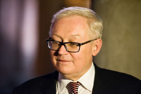 Buenos Aires, Argentina - October 21, 2015: Sergei Ryabkov during the ceremony for opening an exhibition dedicated to the 130th anniversary of diplomatic relations between Russia and Argentina. Editorial