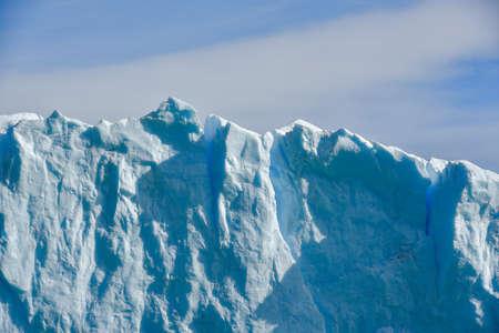 calafate: Close-up view of the Perito Moreno glacier in Patagonia, Argentina. Stock Photo