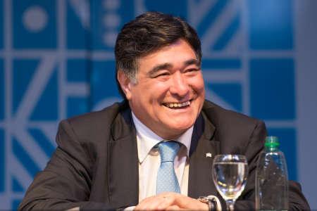 Buenos Aires, Argentina - Nov 5, 2015: Carlos Zannini during the presentation of book El rumbo by Jorge Rivas.