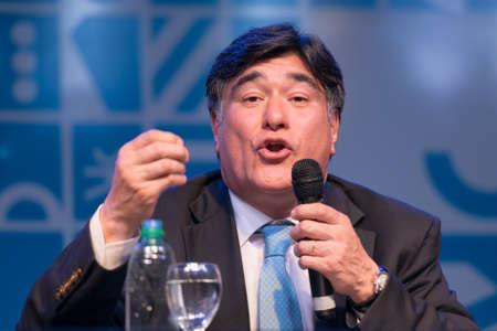 Buenos Aires, Argentina - Nov 5, 2015: Carlos Zannini during the presentation of book El rumbo by Jorge Rivas. Banco de Imagens - 61178084