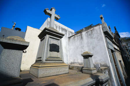 Buenos Aires, Argentina - Sept 23, 2016: at the La Recoleta Cemetery in Capital Federal. Editorial