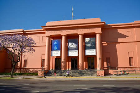 Buenos Aires, Argentina - Nov 22, 2016: National Museum of Fine Arts MNBA is an Argentine art museum in Buenos Aires, located in the Recoleta section of the city. Editöryel