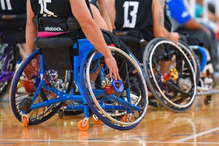 ブエノス ・ アイレス、アルゼンチン。2017 年 1 月 27 日。ブラジル対アルゼンチン アメリカ大陸選手権 2017 中に車椅子バスケット ボールの試合。