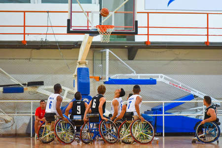 wheelchair users: Buenos Aires, Argentina. 27 Jan, 2017. Brazil vs. Argentina wheelchair basketball game during the Americas Championship 2017.