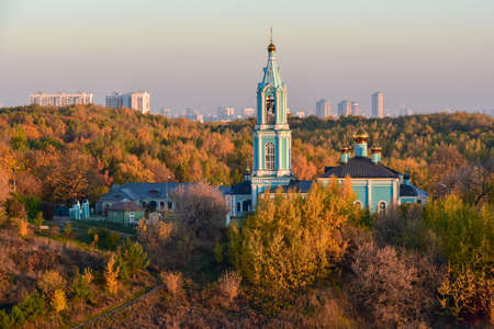 Moscow, Russia - 17 October, 2018: Сhurch of Nativity of the Blessed Virgin Mary in Krylatskie Hills in Moscow, Russia. Stock Photo - 136695883