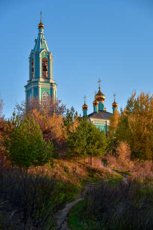 Moscow, Russia - 17 October, 2018: Сhurch of Nativity of the Blessed Virgin Mary in Krylatskie Hills in Moscow, Russia. Stock Photo - 136695888