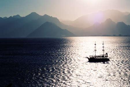 Sailing in the Mediterranean sea photo