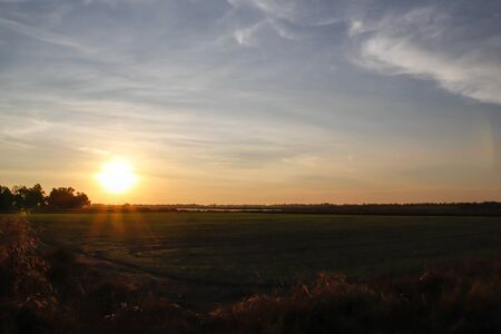 San Rafael Swell: Sunset at prairie